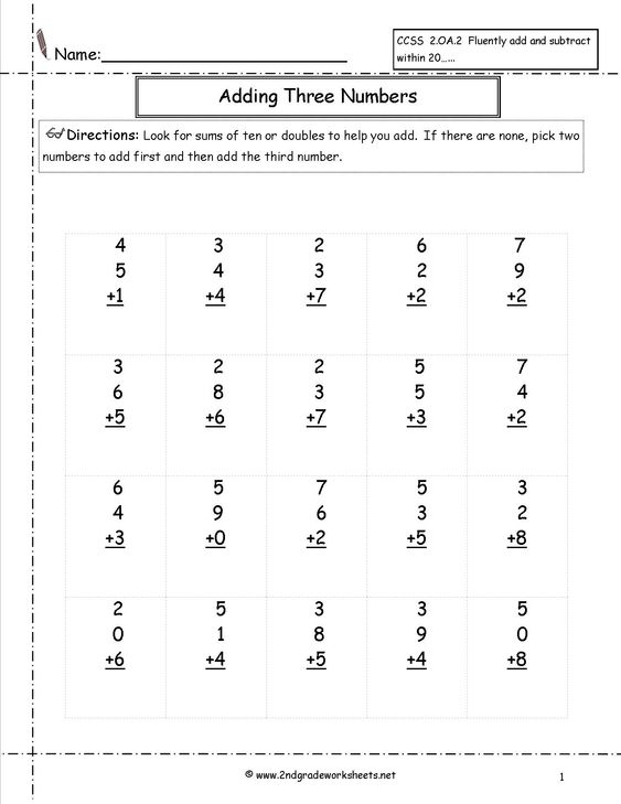 Addition Worksheets three number addition worksheets free Free – Three Number Addition Worksheets