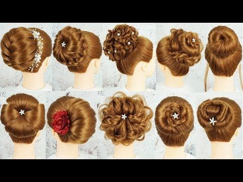 Top 10 New Bun Hairstyle With Using Clutcher Bridal Hairstyles Cute Hairstyles For Wedd Wedding Hairstyles For Girls Cute Wedding Hairstyles Bun Hairstyles