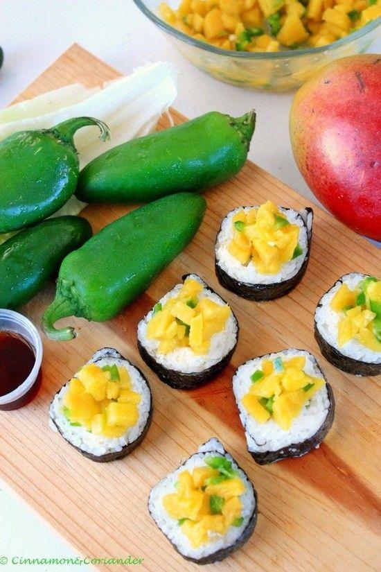 latin fusion sushi rolle | asiaküche | pinterest