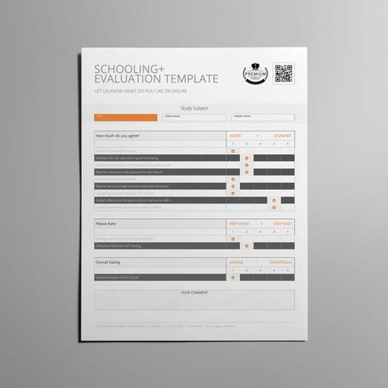 Schooling Evaluation Template US Letter CMYK \ Print Ready - evaluation template