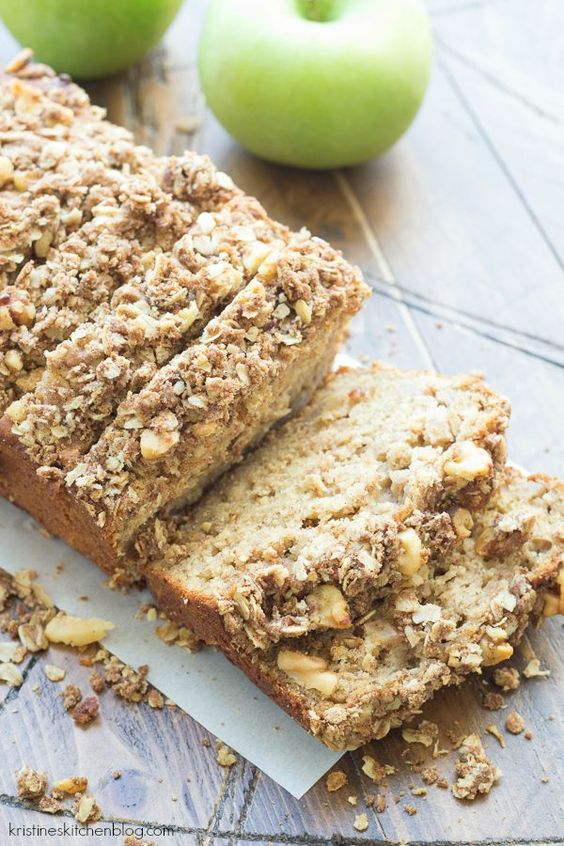 Apple-Cinnamon Quick Bread is SO moist! It has a walnut oat streusel ...