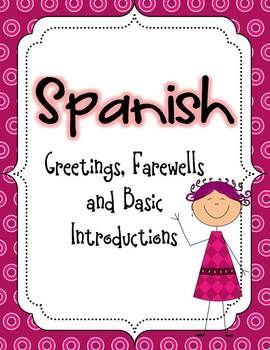 Spanish greetings farewells and basic introductions thematic unit this is a super charged super fun activity practice and games packet all about greetings and introductions in spanish 170 pagesslides in all m4hsunfo