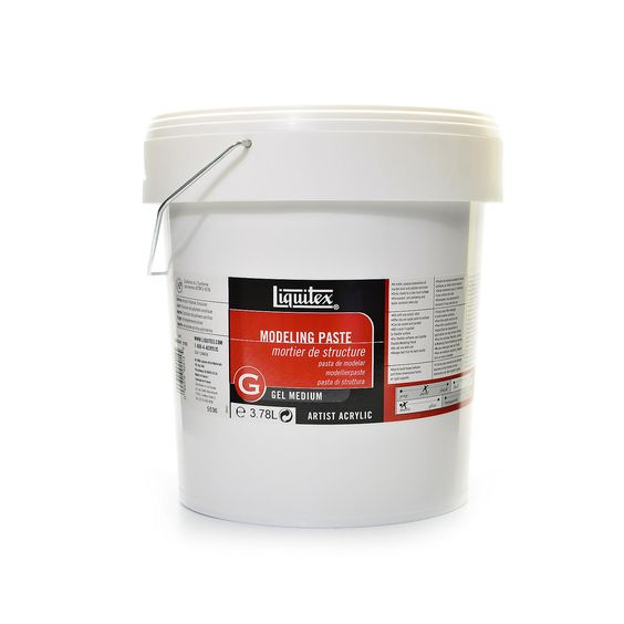 This is an extra heavy body, very opaque modeling paste. Made from marble dust…
