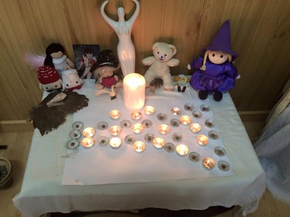 Medio altar de Imbolc 2016