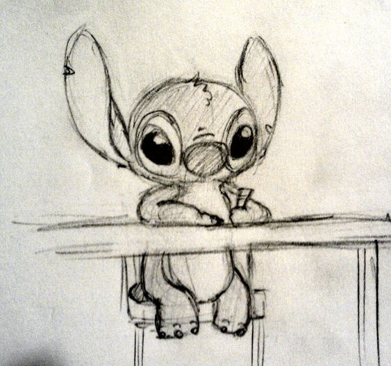 Stitch likes drawing too by CartoonBoyfriends on DeviantArt