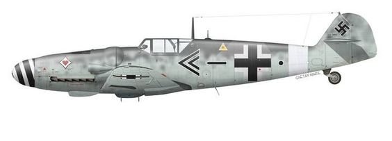 Messerschmtt Me109 of J. Steinhoff.