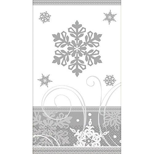 Amscan 16 Count Sparkling Snowflakes Guest Towels Multicolor >>> Visit the image link more details.