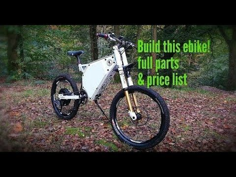 Diy Ebike Build Full Parts And Price List Youtube In 2020