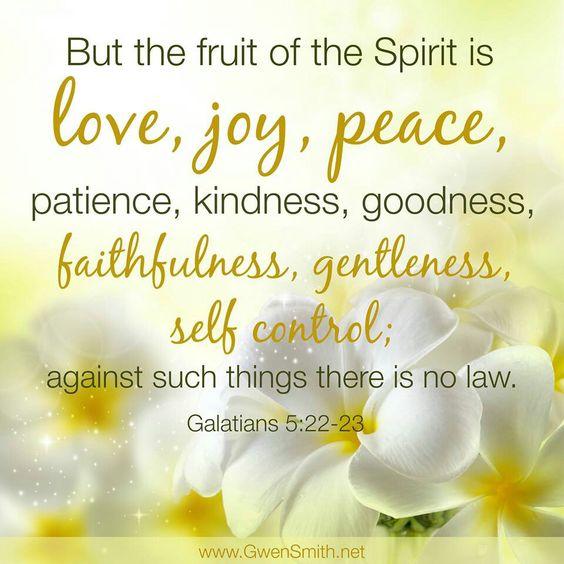 ~ Galatians 5:22-23: