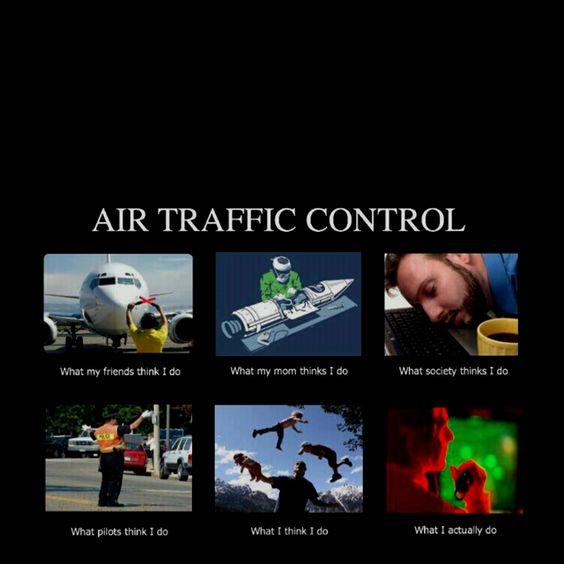 Air Traffic Controller writing a paper meme