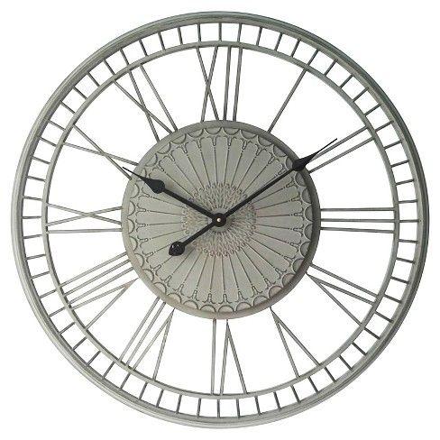 Infinity Instruments Country Lace Wall Clock Hayneedle Grey Clocks Gear