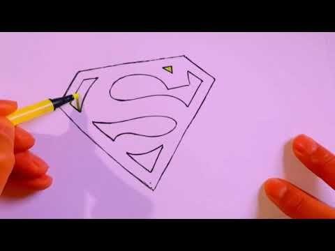 كيفية رسم شعار سوبرمان رسم سهل رسم شعار سوبيرمان تعليم الرسم رسومات سهلة Youtube Peace Gesture Peace Okay Gesture