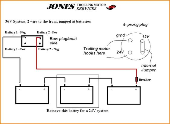 24 Volt Battery Wiring Diagram In 2020 Trolling Motor Motorguide Trolling Motor Diagram