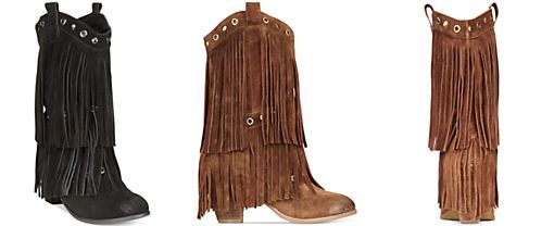 Naughty Monkey Kickin' It Western Fringe Booties