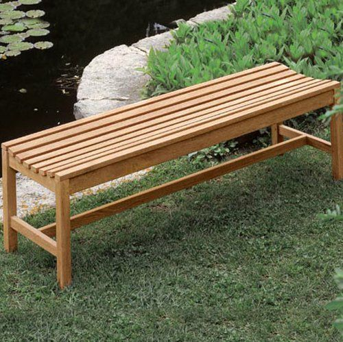 have to have it oxford garden shorea wood backless bench 189