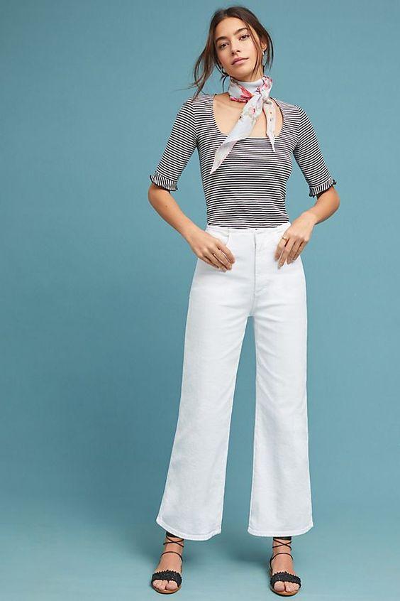 Slide View: 1: AG Etta Ultra High-Rise Wide-Leg Jeans