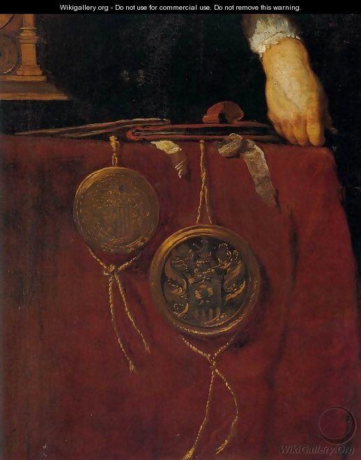 Portrait of a Knight (detail) - Bernardo Strozzi