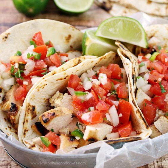 99 Chicken Dinner Ideas To Try Tonight: Grilled Chicken Fresco Tacos