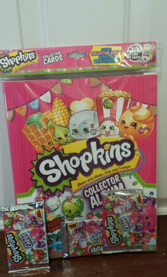 Shopkins Collector Album & Poster With 2 Pack Of Cards Plus Extra Pack Of Cards