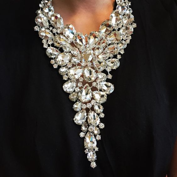 """The ultimate evening statement piece  Style :: Crystal Waterfall Necklace"""