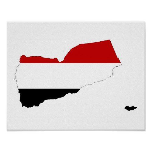 Yemen Country Flag Map Shape Symbol Poster Shapes Symbols Poster Prints Flag Art
