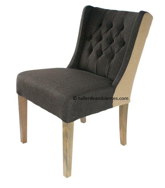 Imágenes de las sillas tapizadas de salón LOVELY en tono gris ...