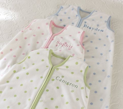 Personalized sleep sack from Pottery Barn Kids