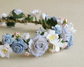 Purple Flower Crown Paper Flower Headpiece Made Of Mulberry