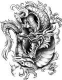 Classic Urban Dragon Tattoo