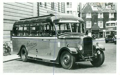 Black And White Bus Photo Of Southdown Photograph Picture Leyland