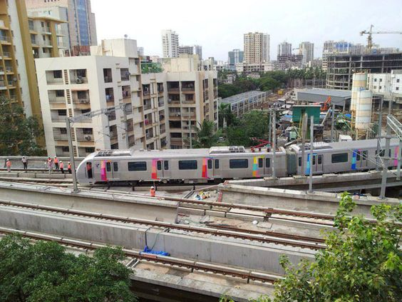 Mumbai Metro test ride