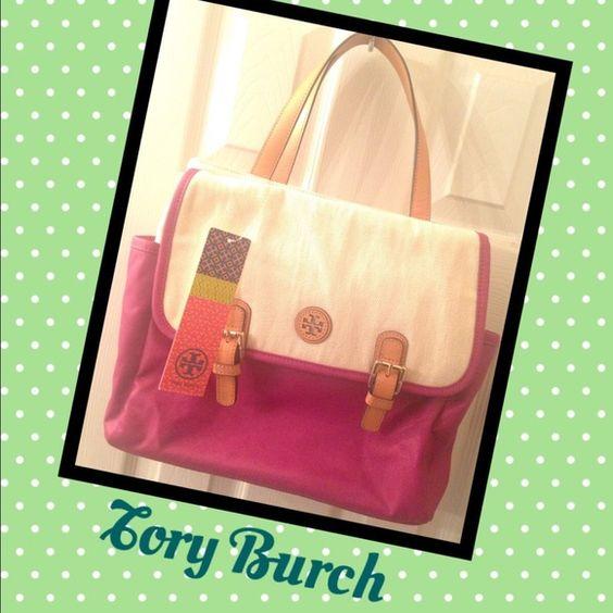 Tory Burch Pierson Mini Beach Tote Super cute Burch bag just in time for summer! Brand new. Tory Burch Bags