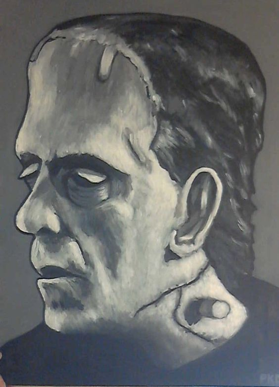"""Recent one """"Karloff's Monster"""" from the 1933 classic Frankenstien"""