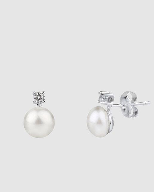Pendientes Vidal Vidal Tú Y Yo Con Perla En 2020 Perlas Aros Perlas Cultivadas