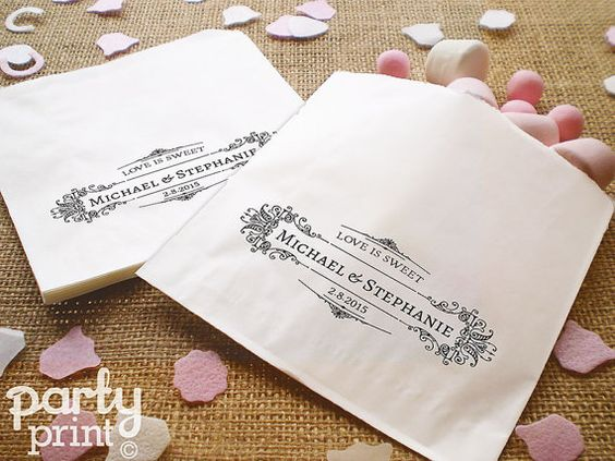 100 Personalised White Paper Sweet Bags - Wedding Favours, Candy Bar, Sweet Cart, Butterfly Theme on Etsy, £10.49