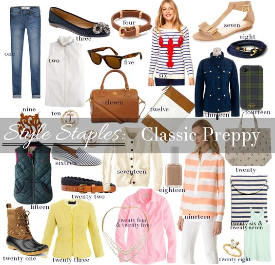 Style Staples Classic Preppy Fashion Pieces Pinterest
