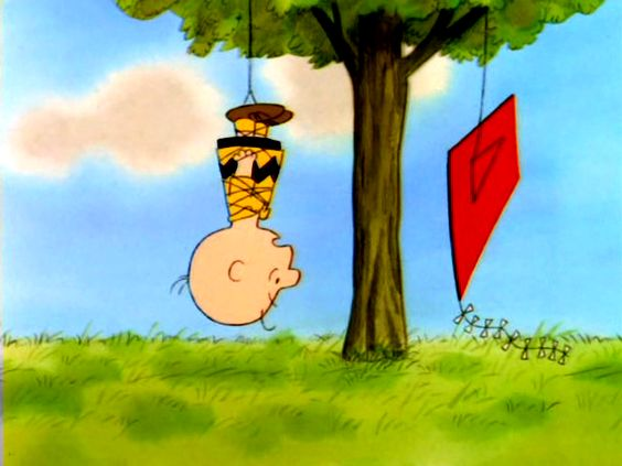 Season 1, Episode 5: Linus' Security Blanket: Charlie Brown tries again to fly his kite, and gets caught up in a tree.