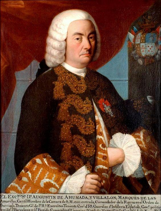 1756 Retrato Del Portrait Of Virrey Don Agustin De