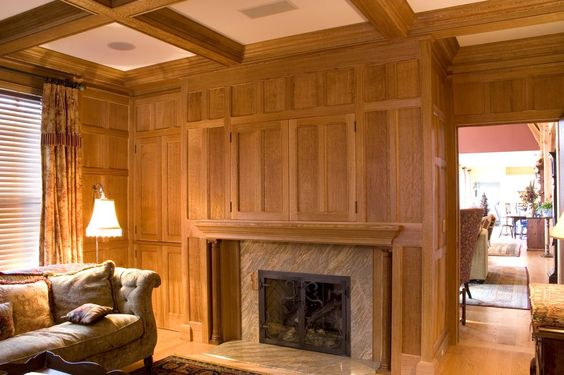 colonial paneled walls | jpg looks like oak?  Dad is suggesting a quarter sewn oak.. about 1/2 $ of old pine... nice looking!