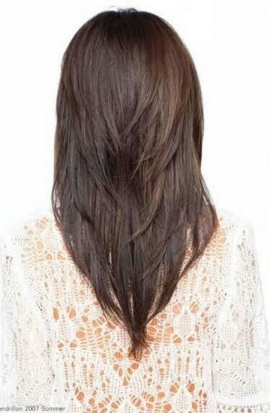 1000 Ideas About V Layered Haircuts On Pinterest V Layers With Regard To V Shaped Haircut For Short Hair Dik Haar Kapsels Mode Kapsels Kapsels
