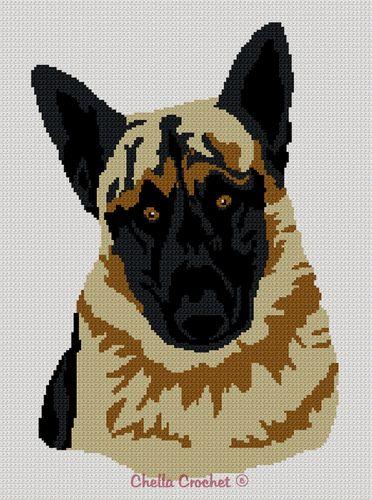 Afghan Shepherd: German Shepherd Dog Afghan Crochet Pattern Graph