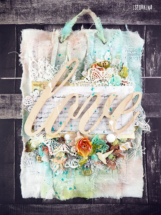 "Фабрика декора: МК ""Цветочное панно из ткани"" от Насти (istorkina):"