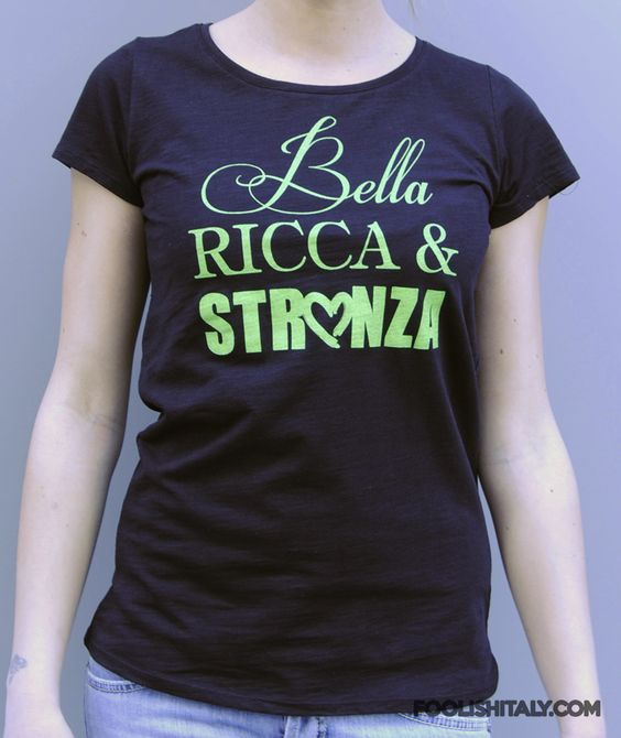 Article: Bella Tshirt Black  www.foolishitaly.com