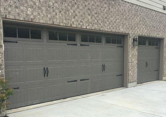 199 Carriage Garage Doors Terra Bronze Stockbridge 2 Windows Spear Hardware Garage Doors Carriage Garage Doors New Homes