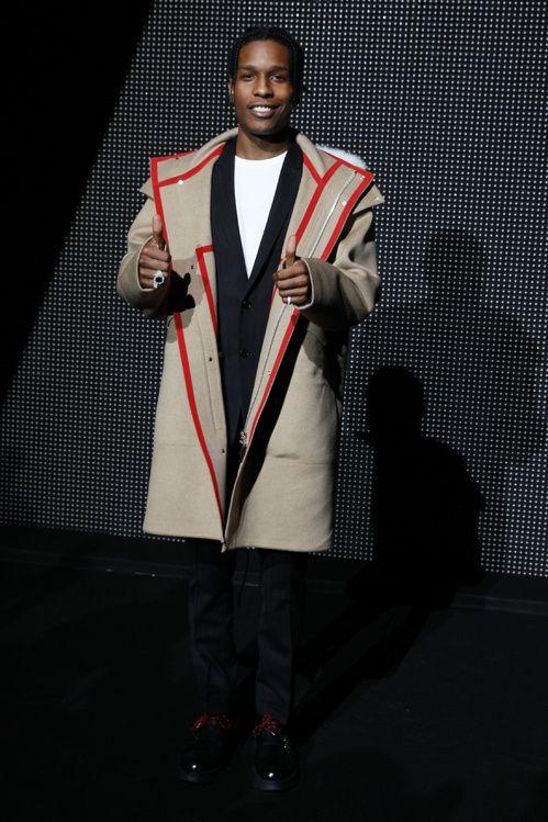 ASAP Rocky au défilé Dior Homme automne-hiver 2016-2017