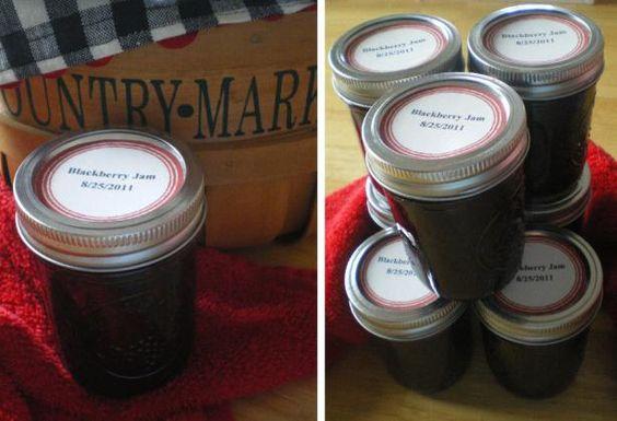 Homemade Blackberry Jam.