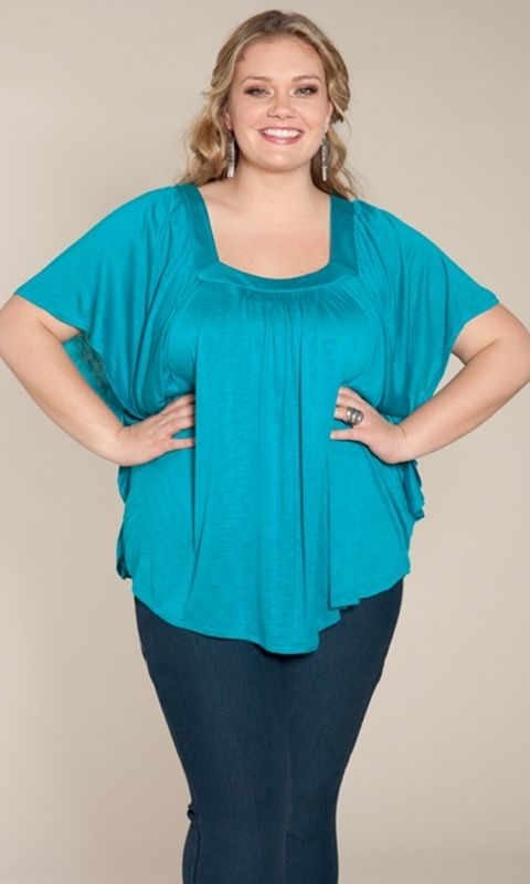 An effortless, easy plus size poncho-inspired top