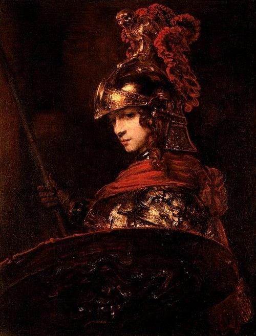 Pallas Athena by Rembrandt, 1664