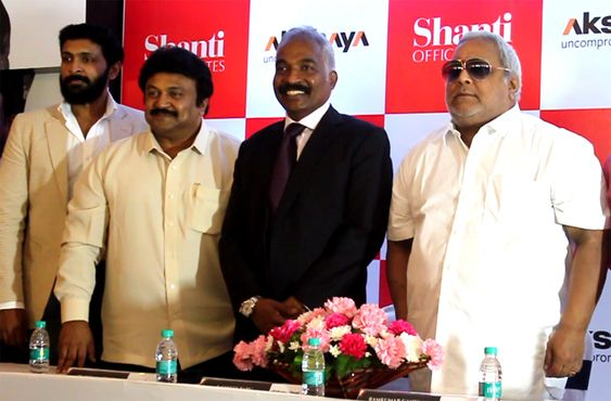 Prabhu,Vikram Prabhu At 'Akshaya Shanti' official Announcement Press Meet