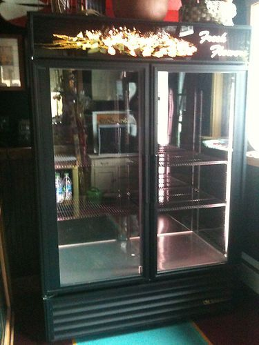 2 Glass Door Flower Floral Display Cooler True GDM-49FC ...